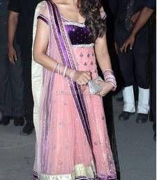 Buy Bipasha basu in pink designer anarkali at navin shetty wedding bollywood-salwar-kameez-online online