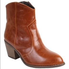 🎉HOST PICK🎉Brown Distressed Booties - BRAND NEW Don't delay. Get a kickin pair of boots for the season. This broad pair provides ample style and slip-free steps. These are brand new and will ship in box with original packaging. * 2'' heel * 5'' shaft * 12'' circumference * Side zip closure Shoes Ankle Boots & Booties