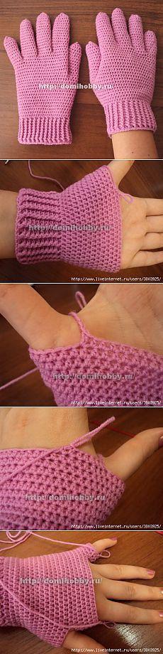uncinetto. Guanti ..crochet mittens