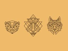 Spirit Animals designed by Brian Steely. the global community for designers and creative professionals. Animal Graphic, Animal Logo, Wolf Illustration, Graphic Illustration, Ink Pen Drawings, Doodle Drawings, Wolf Design, Design Art, Wolf Outline