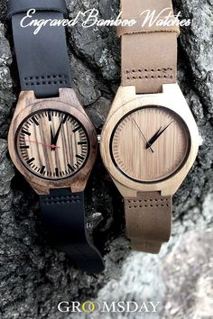Grab one of these Groomsday Engraved Bamboo Watches now because we all know - a gentleman should never be late. These Japanese quartz movement timepieces are a sight to behold and make great groomsmen gifts or gifts for men for any occasion. Best Groomsmen Gifts, Wedding Gifts For Groomsmen, Groomsman Gifts, Bridesmaid Gifts, Wedding Suits, Bridesmaids, Bachelor Party Gifts, Wooden Watches For Men, Watch Engraving