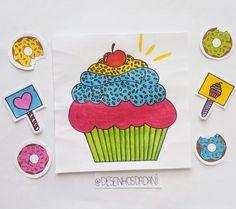 Cupcake 💕 #desenhosdadani #desenhosdadani2017 #desenhos #ilustraçãodecupcake #cupcake