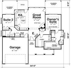 61 Trendy Home Plans Ranch Open Floor Master Closet Ranch House Plans, Craftsman House Plans, Best House Plans, Dream House Plans, Small House Plans, House Floor Plans, Craftsman Homes, Master Closet, Master Suite
