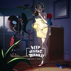 ArtStation - Keep Silent , Thanks!, Jeremy Jhang