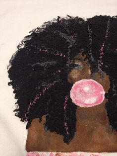Black Girl Pink Bubblegum Bubble T-shirt Natural Hair Tshirt  http://www.shorthaircutsforblackwomen.com/black-hair-growth-pills/