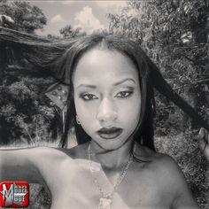 #ModelMode #AshleyMarie #BlackAndWhite #HairPulling