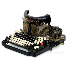 Antique 1910 Royal BarLock No10 Typewriter by TheAntikeyChop, $1449.95 - This is a restored version of the BarLock No10 that we have for sale $250.00