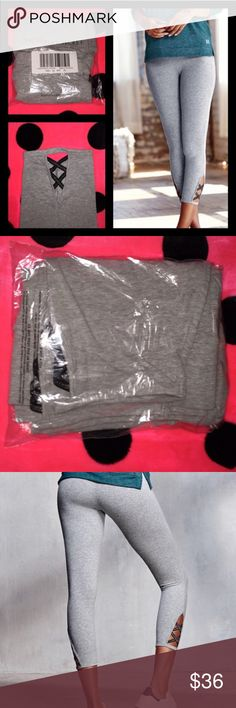 NWT VICTORIAS SECREY SHIMMER STRAPPY BACK LEGGN XL NWT VICTORIAS SECREY SHIMMER STRAPPY BACK LEGGN XL retail: 52.00 sold out! Victoria's Secret Pants Leggings