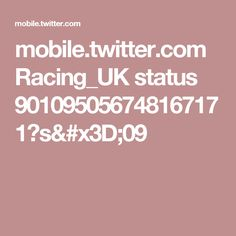 mobile.twitter.com Racing_UK status 901095056748167171?s=09