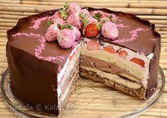 Barbarina torta sa keksom, jagodama i tri jako ukusne kreme