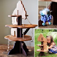 """This has got to be the cutest """"doll"""" house I have come across yet. Wooden toys are just the best."""