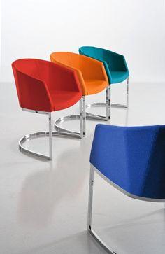 Silla moderna / tapizada / con reposabrazos / de acero - SO CHIC SL P by Dario Delpin - CHAIRS & MORE