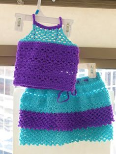Claire Skirt and Top, Crochet Pattern for Baby or Toddler Dress, 3 months to 2 Years