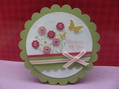 Circle card w flowers, CTMH - jennae