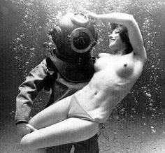 The diver and the woman