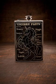Unicorn Part Hip Flask on BourbonandBoots.com