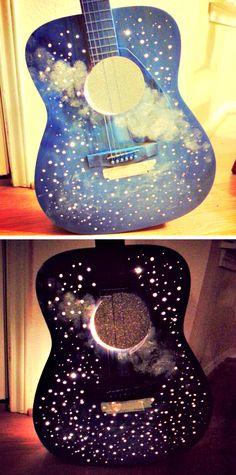10 idées pour récupérer une guitare! Et comment faire. - Décoration - Des idées de décorations pour votre maison et le bureau - Trucs et Bricolages - Fallait y penser !