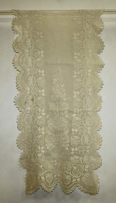 Stole Date: ca. 1800 Culture: British Medium: cotton Dimensions: Length: 89 in. (226.1 cm) Credit Line: Purchase, Mr. and Mrs. Alan S. Davis Gift, 1976 Accession Number: 1976.147.3