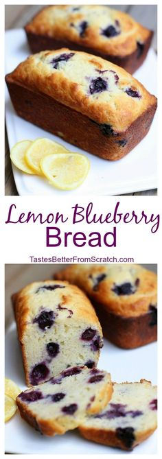 Yogurt Lemon Blueberry Bread Rate This is my absolute favorite bread to make this time of year! It's easy and sooooo delicious! Recipe on Rate This is my absolute favorite bread to make this time of year! It's easy and sooooo delicious! Recipe on Bake Sale Treats, Bake Sale Recipes, Baking Recipes, Yogurt Recipes, Bread Recipes, Just Desserts, Delicious Desserts, Dessert Recipes, Yummy Food