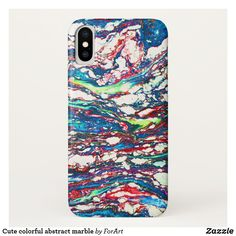 Cute colorful abstract marble  iPhone X Case
