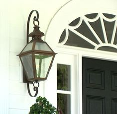 Carolina Lantern Co. - T-42 Tradd Street Wall Mount with optional Full Scroll