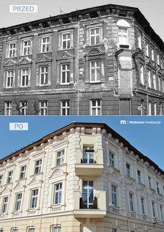 W ciągu ostatnich kilku lat w #Bydgoszczy udało się nam wyremontować kilkadziesiąt kamienic. Odnowione #budynki znajdują się nie tylko w centrum miasta, ale i na osiedlu Leśnym, na Bocianowie czy Okolu. Oto przykład naszej rewitalizacji kamienicy na ul. Kanałowej 8.   #przedpo #beforeandafter #architektura #budynek #kamienica