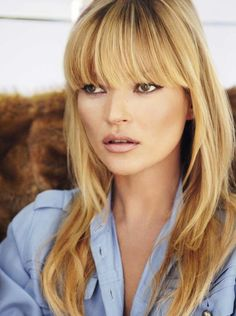 Kate Moss - Missing my blunt bangs... sigh.