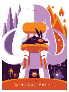 Adventure Time Screen Print by Tom Whalen