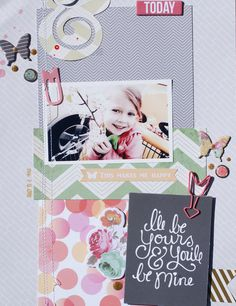 I'll Be Yours by Michelle Wedertz at @Studio_Calico Such a cute design! Love the mix of colors!