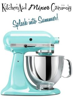 KitchenAid Mixer Giveaway on chef-in-training.com ...Come visit to enter for your chance to win!