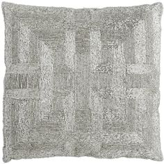 Pier 1 Imports Gray Beaded Greek Key Pillow ($20) ❤ liked on Polyvore featuring home, home decor, throw pillows, grey, gray accent pillows, pier 1 imports, handmade home decor, grey accent pillows and greek home decor