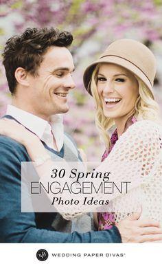 30 Spring Engagement Photo Ideas   Wedding Paper Divas