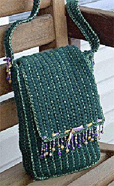 Crocheted Beaded Fringe Handbag: Free Pattern