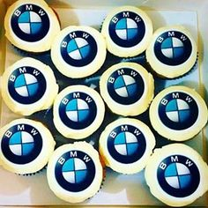 Some #bmw cupcake toppers