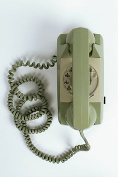 GTE Automatic Electric (AE) Model 80 Design Vintage Wall Telephone in Green/Mint