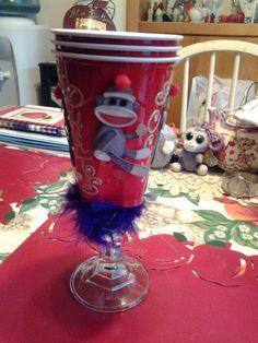 Sock monkey solo cup