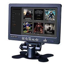 """Quimat 7"""" LCD Moniteur,1024*600 2AV/VGA/HDMI TFT HD Écran avec Haut Parleur Intégré pour CCTV Caméra Ordinateur PC DVR Voiture TV box Instruments Industriel Matériel médical,Compatible avec Raspberry Pi 3 2 1 Model B B+: Amazon.fr: High-tech"""