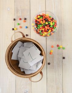 This birthday party game is great for all ages, and makes kids happy whether they win or lose. The Skittles Relay Race is the best birthday game ever!