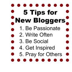 5 tips for new bloggers