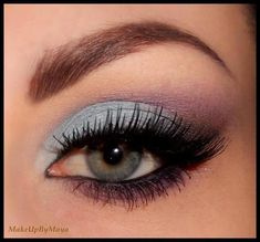 makeup silver and purple - maquillaje de ojos plata y morado ♛