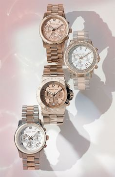 Oh MK - you really know how to make a lady happy.. if I had the money I would probably own at least 6 of his watches unfortunately I dont and I will have to live with my one - - I have the Rose gold one surrounded with stones (similar to the style on the top)