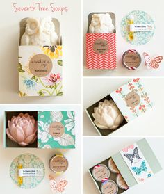 tweeted about this seller a few days ago but had to post her work too. This is Seventh Tree Soaps based out of Sydney, Australia. She sells lip balms, gift sets with soap, individual bars of soap, and more and it's all packaged so cute. This is a great store to buy gifts, I have my eye on a few things for my guest bathroom – I love to stock pretty things in there for my visitors to use and enjoy.