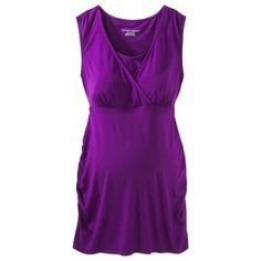 Liz Lange® for Target® Maternity Short-Sleeve Nursing Friendly Cami, Black/Blue Diamond/Nettle Green/Plum Purple - $11.88