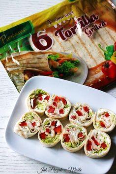 Roladki z tortilli z szynką na zimno - sylwestrowa przystawka Grilling, Oven, Clean Eating, Food Porn, Food And Drink, Cooking Recipes, Mexican, Brunch, Meals