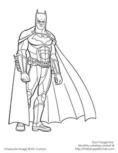 printable coloring pages of batman free coloring pages