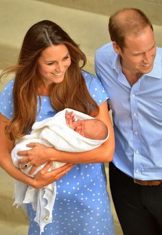 William and Kate's swaddled Prince George in a £45 merino wool shawl