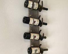 Rustic Horseshoe Wine Rack (5 Bottle)