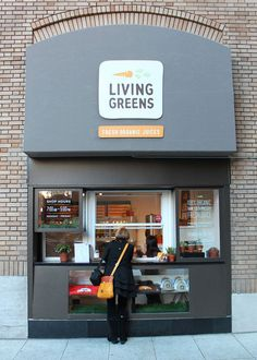 Living Greens - fresh organic juices - designed by Noise 13 - Noodle Logo - # Smoothie Bar, Commercial Design, Commercial Interiors, Cafe Restaurant, Restaurant Design, Restaurant Themes, Juice Bar Design, Juice Store, Fruit Shop