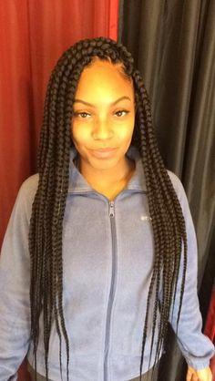 Top 60 All the Rage Looks with Long Box Braids - Hairstyles Trends Box Braid Hair, Jumbo Box Braids, Short Box Braids, Blonde Box Braids, Black Girl Braids, Braids For Black Hair, Girls Braids, Large Box Braids, Medium Box Braids