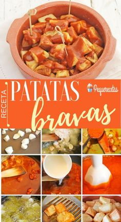 Patatas bravas, the authentic recipe for an irresistible tapa - Maria Asuncion - Patatas Bravas Recipe Authentic, Papas Bravas Recipe, Tapas Recipes, Vegan Recipes, Cooking Recipes, Yummy Veggie, Yummy Food, Paella, Vegan Main Dishes